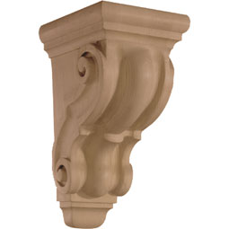 4 3/4&quot;W x 9 1/2&quot;H x 5 3/4&quot;D Corbel Plain Small