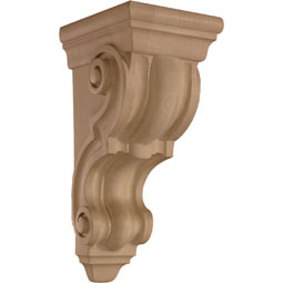5 3/4&quot;W x 14&quot;H x 7 3/8&quot;D Corbel Plain Medium