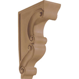 "3 3/4""W x 13""H x 8 1/2""D Corbel Scroll Traditional Narrow"