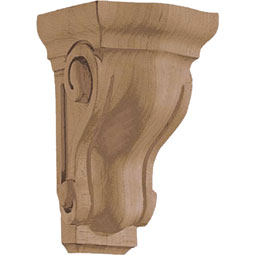 "2 5/8""W x 4 1/2""H x 2 3/4""D Corbel Traditional Extra Mini"