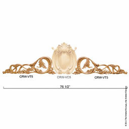 "33 3/4""W x 11 1/4""H x 2 1/4""P Crown Villa Trim Garland In Pairs Left & Right"