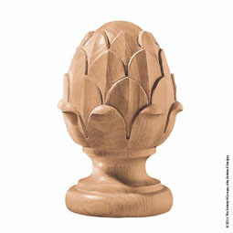 "3 1/2""OW x 6""H Finial Artichoke Medium"