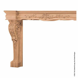 Mantel Georgian Base with Back Splat and Fascia, MLT-GOF,