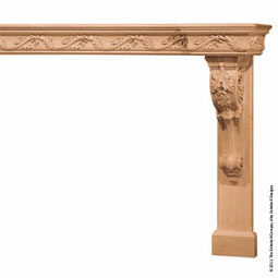 "Mantel Large Corbels with 6"" Molding Top, MLT-LCM,"