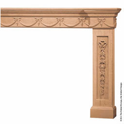 "Mantel Plain PC4 Molding Top with 5"" Molding & Onlay Base, MTL-MO5,"