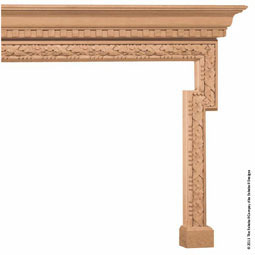 "Mantel Plain 6"" Molding Top with OB3 Molding Base, MLT-PTM,"