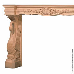 Mantel Swan Base with Back Splat/Fascia Top, MLT-SWF,