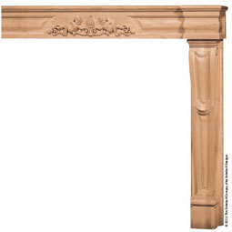 Mantel Traditional Base & Fascia with Onlay, MLT-TNO,