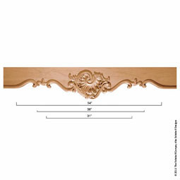 85&quot;L x 13&quot;H x 2 1/2&quot;P Mantel Villa Escallop Fascia