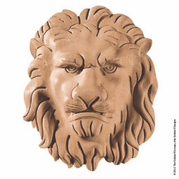 "8""W x 9 7/8""H x 2 3/8""P Onlay Lion Face Medium"