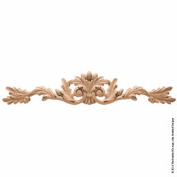 "24""W x 4 3/4""H x 3/4""P Onlay Oak Leaf Horizontal Extra Large"