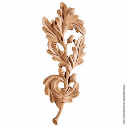 "5 3/4""W x 15""H x 1 1/4""P Onlay Oak Leaf Medallion Large"