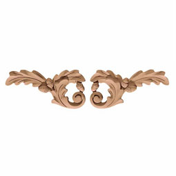 "7""W x 3 1/2""H x 1/2""P Onlay Oak Leaf Trim Small"