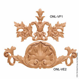 "8 5/8""W x 5 5/8""H x 3/4""P Onlay Villa Foliate Small"