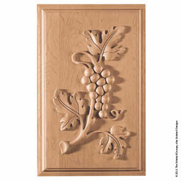 "11 1/2""W x 18 1/4""H Panel Grape Medium"