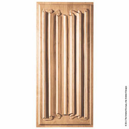 "11 1/2""W x 25 1/4""H Panel Linenfold Medium Large"