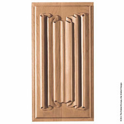 "9 1/2""W x 18 1/4""H Panel Linenfold Narrow Medium"