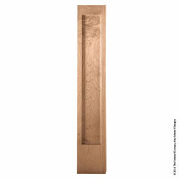 "34 1/2""H x 6""W x 1 1/4""P Post American Arts & Crafts Plain Pilaster"