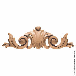 "12""W x 3 3/4""H x 1 1/2""P Pull Acanthus Small"