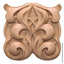 5&quot;H x 5&quot;W x 3/4&quot;T, Cordoba Square Rosette