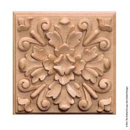 5&quot;H x 5&quot;W x 3/4&quot;T, Boxwood Square Rosette