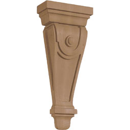 "6 1/4""W X 2 1/2""D X 14 5/8""H Corbel American Arts and Crafts Pilaster W/Dot Medium"