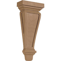 "4 5/8""W X 1 7/8""D X 10""H Corbel American Arts & Crafts Pilaster Small"