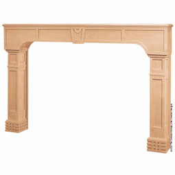 Mantel A/Arts & Crafts Post with Backsplat and Fascia