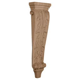 "6 3/4""W x 3""D x 22""H, Large Acanthus Pilaster Corbel"