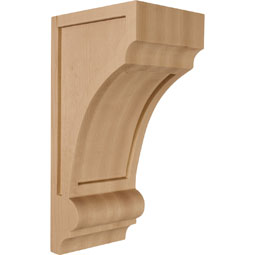 4 3/4&quot;W x 6&quot;D x 12&quot;H Diane Recessed Wood Corbel