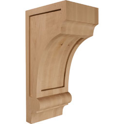 5 1/2&quot;W x 7&quot;D x 14&quot;H Diane Recessed Wood Corbel