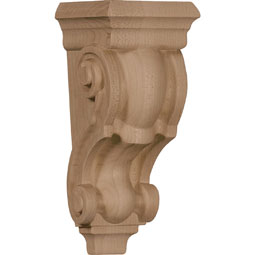 "3 1/2""W x 3""D x 7""H Small Traditional Corbel"