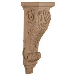 """6 3/4""""W x 7 5/8""""D x 22""""H, Extra Large Shell Corbel"""