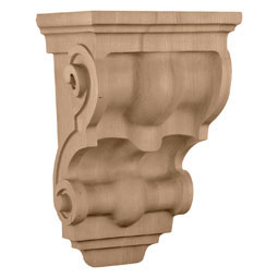 "9 3/4""W x 6 1/2""D x 15""H, Wide Traditional Corbel"