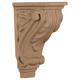 "3 1/2""W x 4""D x 7""H, Small Acanthus Corbel"