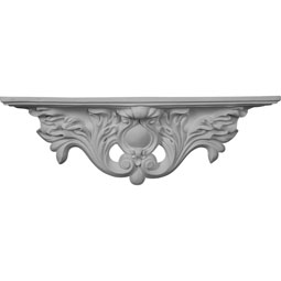 "23 7/8""W x 4 3/8""D x 7 7/8""H Acanthus Shelf"