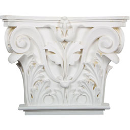 "16 1/2""W x 13 5/8""H x 3 3/4""P Acanthus Leaf Onlay Capital"