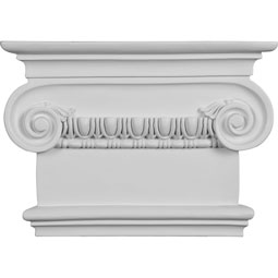 "7 1/2""W x 8 1/2""H x 2 1/2""P Classic Ionic Large Onlay Capital"