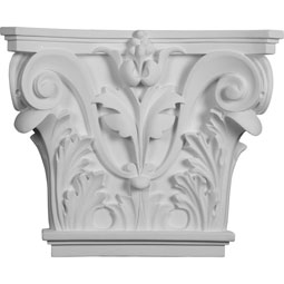 "16 1/2""W x 13 5/8""H x 3 3/4""P Acanthus Leaf Pilaster Capital (Fits Pilasters up to 10 3/8 ""W x 3/4""D)"