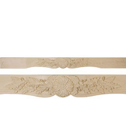 "4""W x 7 1/2""H x 84""L Decorative Oakleaf Mantel"