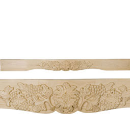 "4""W x 7 1/2""H x 84""L Decorative Grape Mantel"