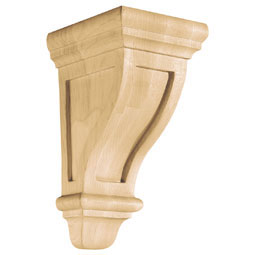 "4 3/4""W x 9 1/2""H x 5 3/4""D Corbel American Arts and Crafts Small, Red Oak"