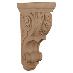 "5""W x 7 1/4""D x 14 1/4""H, Large Traditional Acanthus Corbel"